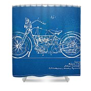 Harley-davidson Motorcycle 1928 Patent Artwork Shower Curtain