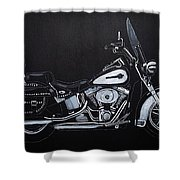 Harley Davidson Snap-on Shower Curtain