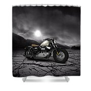 Harley Davidson Sportster Forty Eight 2013 Mountains Shower Curtain
