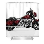 Harley-davidson Street Glide Motorcycle Shower Curtain