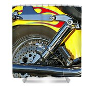 Harley-davidson Twin Cam 88 Rear Wheel Shower Curtain