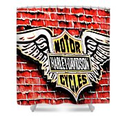Harley Davidson Wings Shower Curtain