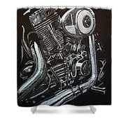 Harley Engine Shower Curtain