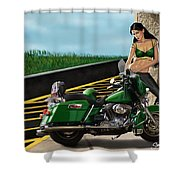 Harley Girl Shower Curtain