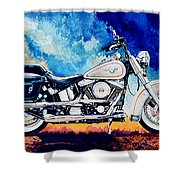 Harley Hog II Shower Curtain
