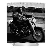 Harley Man Shower Curtain