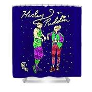 Harley N Puddin Shower Curtain