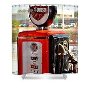 Harley Petrol Shower Curtain