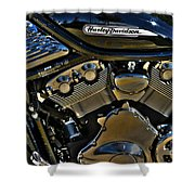 Harley Power Plant Shower Curtain
