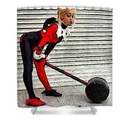 Harley Quinn Classic  - Free Style -  - Da Shower Curtain