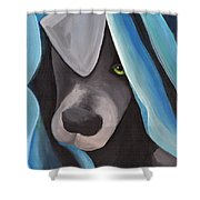 Harlow As A Puppy Shower Curtain