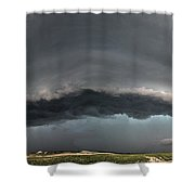 Harlowton, Montana, Supercell Shower Curtain