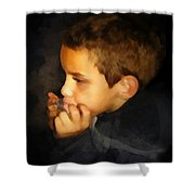 Harmonica Player Shower Curtain