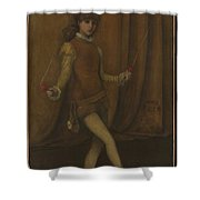 Harmony In Yellow And Gold, The Gold Girl Connie Gilchrist , James Mcneill Whistler Shower Curtain