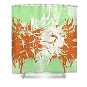 Harmony Shower Curtain by Linda Woods