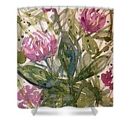 'harmony, Wisdom And Understanding From The Red Clover' Shower Curtain