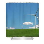 Harnessing Wind Shower Curtain