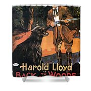 Harold Lloyd In Back To The Woods 1919 Shower Curtain