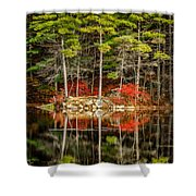 Harold Parker State Park In The Fall Shower Curtain