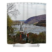 Harpers Ferry - Shenandoah Meets The Potomac Shower Curtain