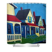 Harpswell Cottages Shower Curtain