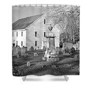 Harrington Meetinghouse -bristol Me Usa Shower Curtain by Erin Paul Donovan