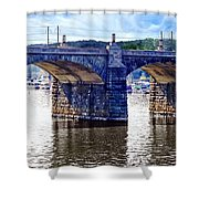 Harrisburg Pa - Market Street Bridge Shower Curtain