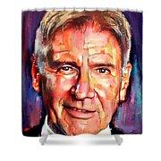 Harrison Ford Indiana Jones Portrait 2 Shower Curtain
