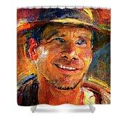 Harrison Ford Indiana Jones Portrait 3 Shower Curtain