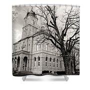 Harrisonburg, Rockingham County Courthouse, Virginia - Bw 1 Shower Curtain