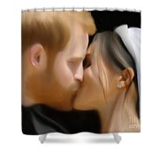 Harry And Meghan Shower Curtain