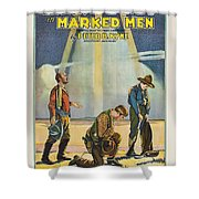 Harry Carey In Marked Men 1919 Shower Curtain