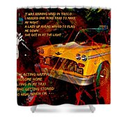 Harry Chapin Taxi Song Poster With Lyrics Shower Curtain