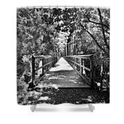 Harry Easterling Bridge Peak Sc Black And White Shower Curtain