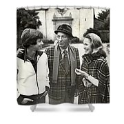 Harry Jr, 16 Harry Lillis Bing  And Wife Kathy Shower Curtain