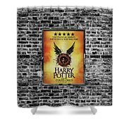 Harry Potter London Theatre Poster Shower Curtain