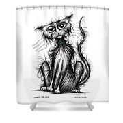 Harry The Cat Shower Curtain