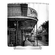 Harry's Corner In Black And White Shower Curtain