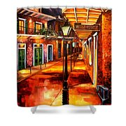 Harrys Corner New Orleans Shower Curtain by Diane Millsap