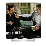 Harsh Times, Starring Christian Bale, Freddy Rodriguez And Eva Longoria Shower Curtain