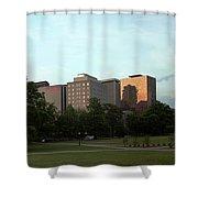 Hartford Skyline Panorama Shower Curtain