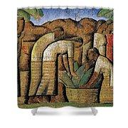 harvest, by Alfredo Ramos Martinez Shower Curtain