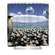 Harvest Day Sightings Shower Curtain