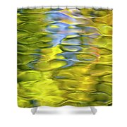 Harvest Gold Mosaic Shower Curtain