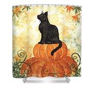Harvest Kitty Shower Curtain