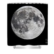 Harvest Moon At 99 Pct. Waxing Gibbous Shower Curtain