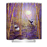 Harvest Moon Pandas  Shower Curtain