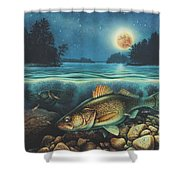 Harvest Moon Walleye 3 Extended Version Shower Curtain
