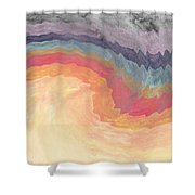 Harvest Wind- Abstract Art By Linda Woods Shower Curtain
