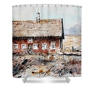 Harvested Fields Shower Curtain